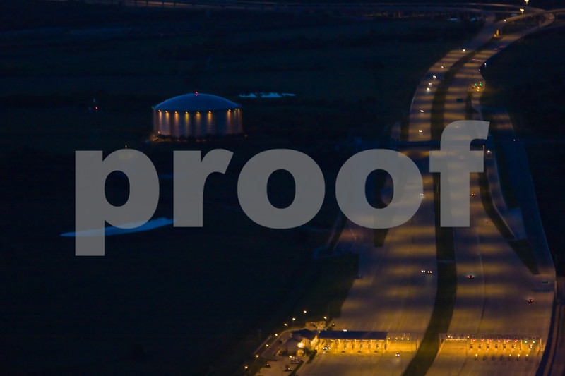 Aerial Photos in Austin After Dark